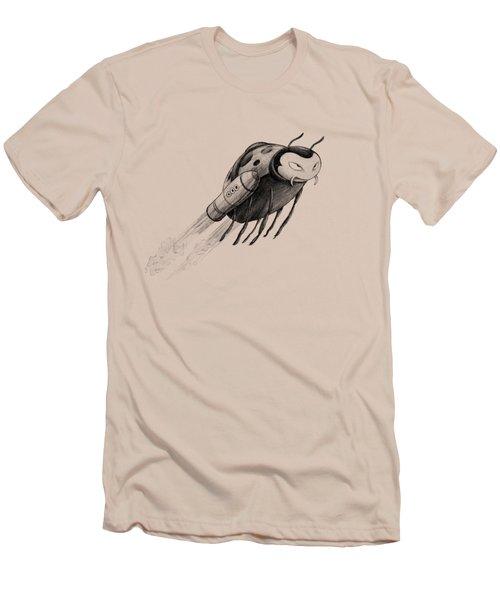 Lady Rocket Bug Men's T-Shirt (Athletic Fit)