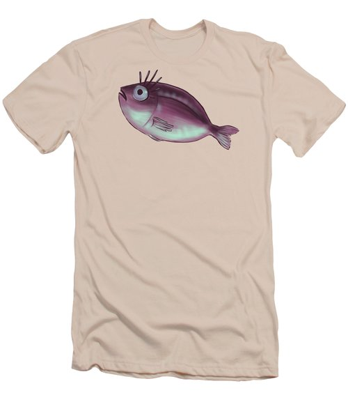 Funny Fish With Fancy Eyelashes Men's T-Shirt (Athletic Fit)