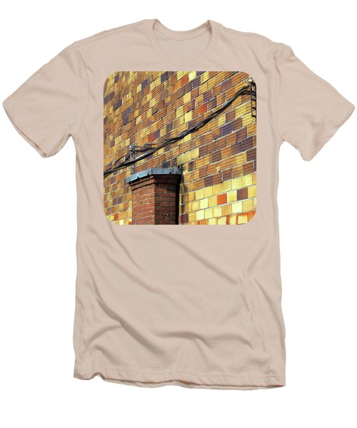 Bricks And Wires Men's T-Shirt (Slim Fit) by Ethna Gillespie