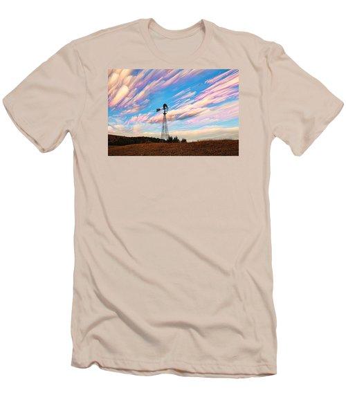 Crazy Wild Windmill Men's T-Shirt (Slim Fit) by Bill Kesler