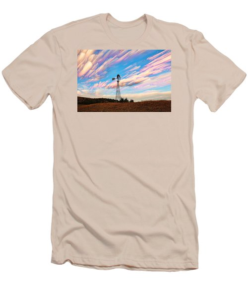 Crazy Wild Windmill Men's T-Shirt (Athletic Fit)