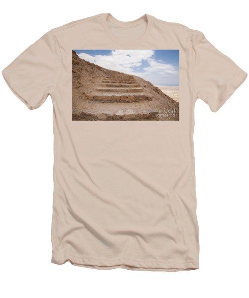 Stairway To Heaven - Masada, Judean Desert, Israel Men's T-Shirt (Slim Fit) by Yoel Koskas