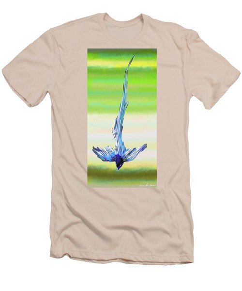 Men's T-Shirt (Athletic Fit) featuring the digital art Asian Paradise Flycatcher by Iowan Stone-Flowers