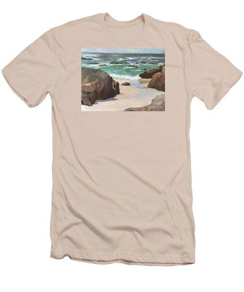 Asilamor Beach Monterey Ca Men's T-Shirt (Athletic Fit)