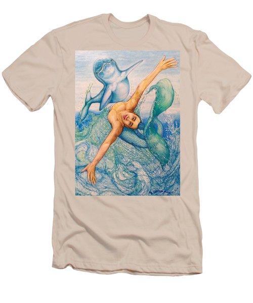 Astrology Zodiac Signs Pisces Men's T-Shirt (Slim Fit) by Kent Chua