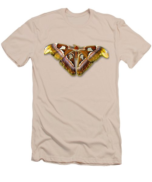 Atlas Moth 2 Sehemu Mbili Unyenyekevu Men's T-Shirt (Slim Fit) by Bob Slitzan