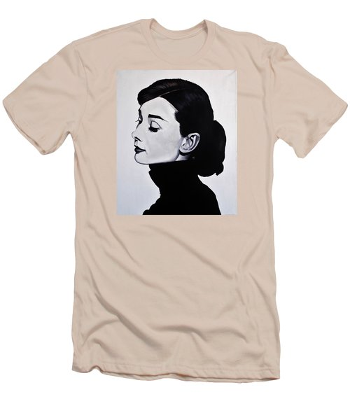 Audrey Hepburn 1 Men's T-Shirt (Slim Fit) by Brian Broadway