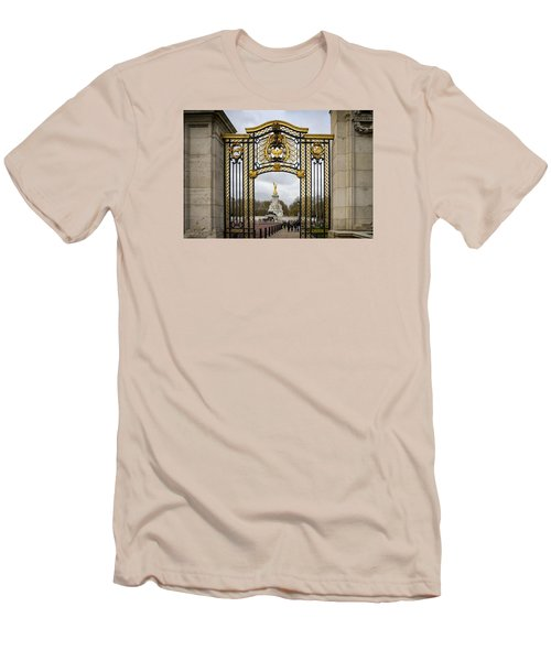 Australia Gate Towards Queen Victoria's Statue Men's T-Shirt (Slim Fit) by Shirley Mitchell