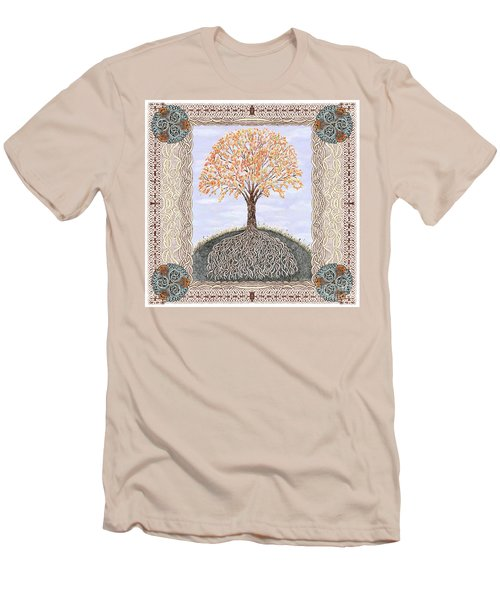 Autumn Tree Of Life Men's T-Shirt (Slim Fit) by Lise Winne