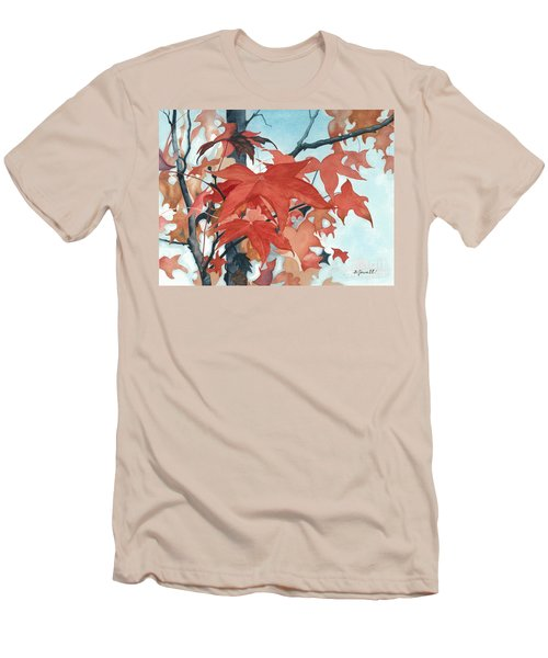 Men's T-Shirt (Slim Fit) featuring the painting Autumn's Artistry by Barbara Jewell