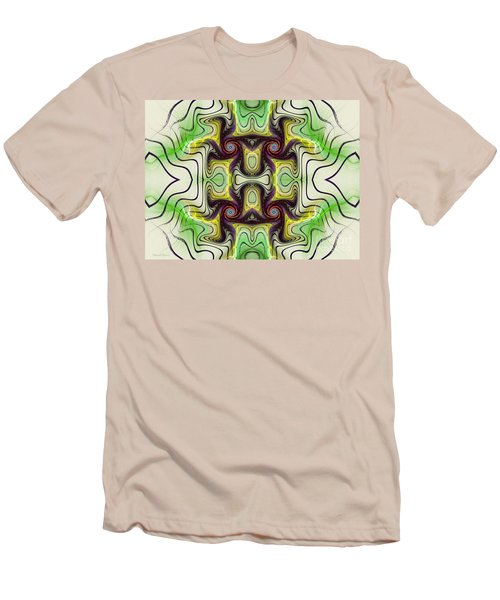 Aztec Art Design Men's T-Shirt (Slim Fit) by Deborah Benoit