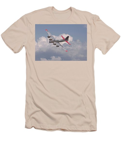 Men's T-Shirt (Slim Fit) featuring the photograph B17 - The Last Lap by Pat Speirs