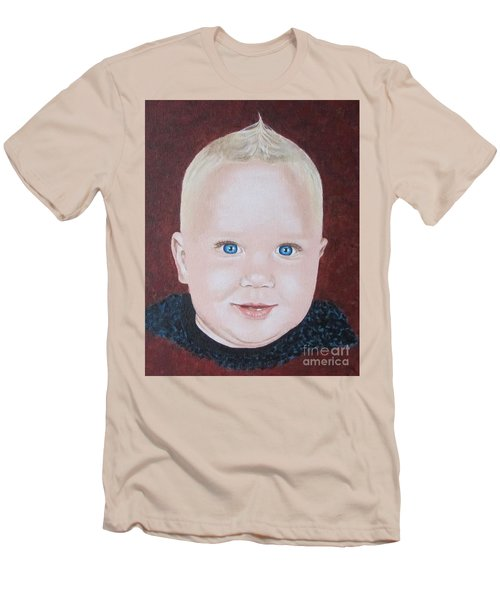 Men's T-Shirt (Slim Fit) featuring the painting Baby by Jeepee Aero