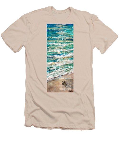 Baby Sea Turtle II Men's T-Shirt (Slim Fit) by Linda Olsen