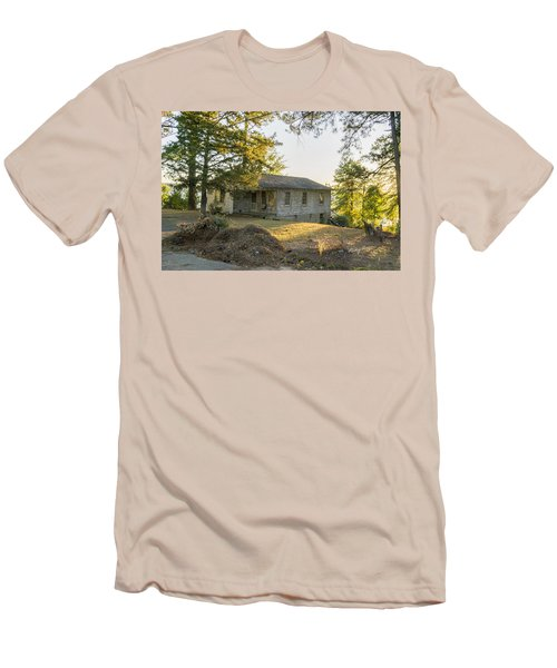Back Porch Sunset Men's T-Shirt (Slim Fit) by Ricky Dean