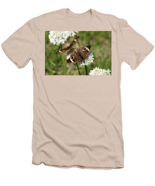 Back To Back Butterflies Men's T-Shirt (Slim Fit) by Sheila Brown
