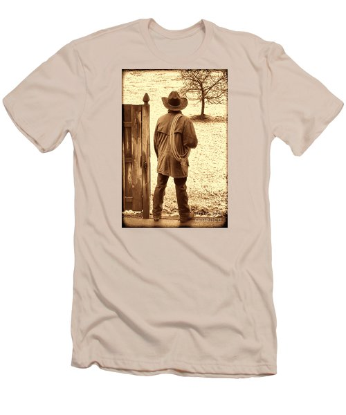 Back To Work Men's T-Shirt (Slim Fit) by American West Legend By Olivier Le Queinec