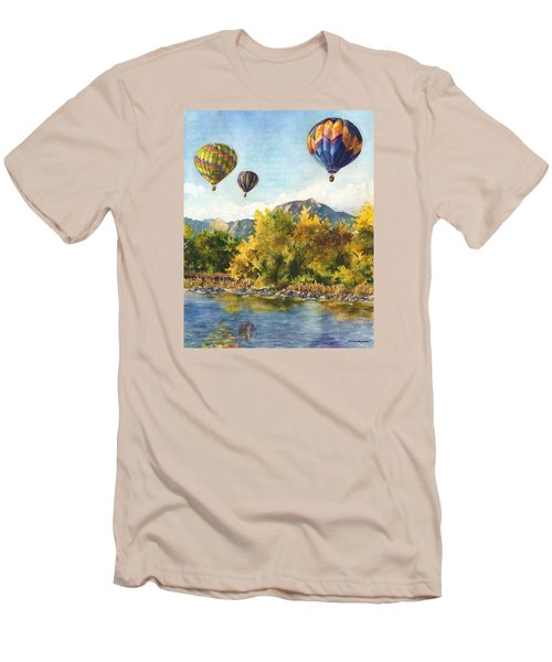 Men's T-Shirt (Slim Fit) featuring the painting Balloons At Twin Lakes by Anne Gifford