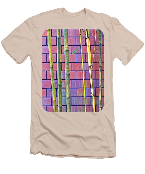 Bamboo And Brick Men's T-Shirt (Slim Fit) by Ethna Gillespie