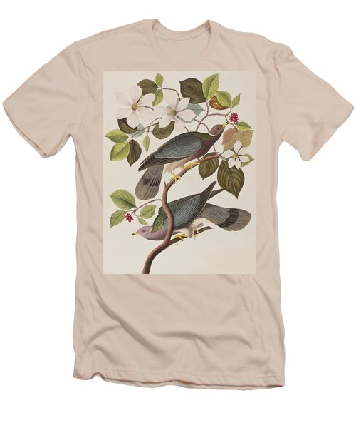 Band-tailed Pigeon  Men's T-Shirt (Slim Fit) by John James Audubon