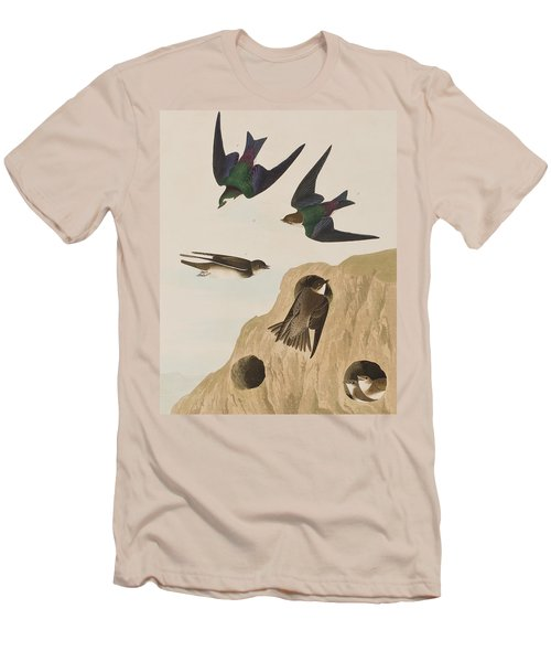 Bank Swallows Men's T-Shirt (Slim Fit) by John James Audubon