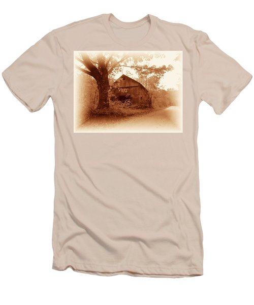 Barn Hocking Co Ohio Sepia Men's T-Shirt (Athletic Fit)