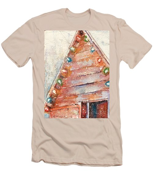 Barn In Snow Men's T-Shirt (Athletic Fit)