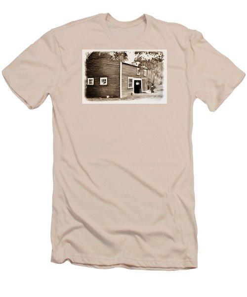 Barn In The Woods Men's T-Shirt (Slim Fit) by Rena Trepanier