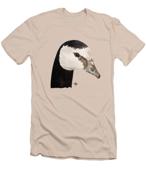Barnacle Goose Portrait Men's T-Shirt (Slim Fit) by Angeles M Pomata