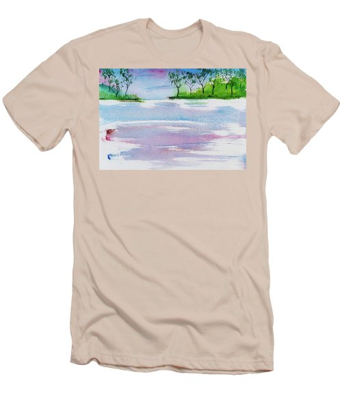 Gum Trees Frame The Sunset At Barnes Bay Men's T-Shirt (Athletic Fit)