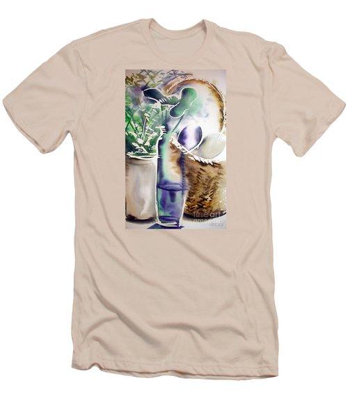Basket And Bottle Men's T-Shirt (Slim Fit)