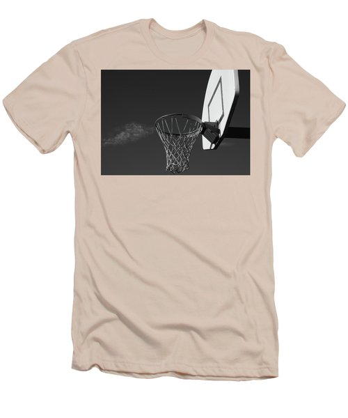 Men's T-Shirt (Slim Fit) featuring the photograph Basketball Court by Richard Rizzo