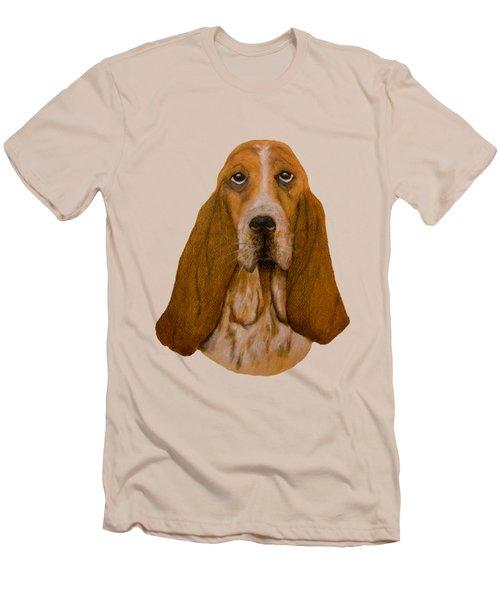 Basset Hound Portrait Men's T-Shirt (Slim Fit) by John Stuart Webbstock