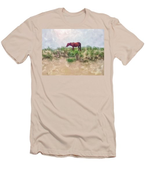 Men's T-Shirt (Slim Fit) featuring the digital art Beach Boy by Lois Bryan
