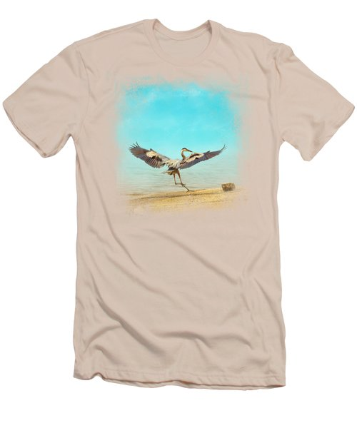 Beach Dancing Men's T-Shirt (Slim Fit) by Jai Johnson