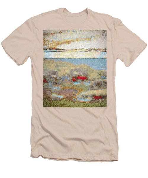 Men's T-Shirt (Slim Fit) featuring the photograph Beach Dunes by William Wyckoff