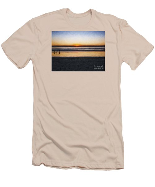 Beach Family  ... Men's T-Shirt (Slim Fit) by Chuck Caramella