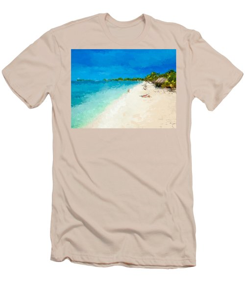 Beach Holiday  Men's T-Shirt (Slim Fit) by Anthony Fishburne