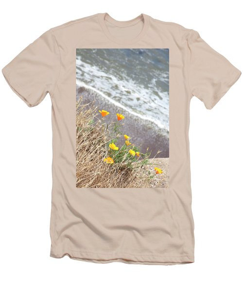 Beach Poppies Men's T-Shirt (Slim Fit)