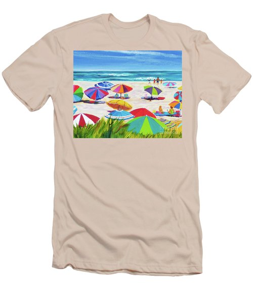 Umbrellas 2 Men's T-Shirt (Slim Fit) by Anne Marie Brown