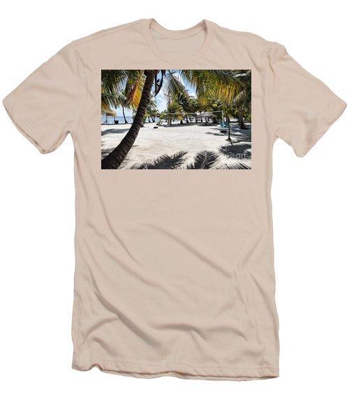 Beach Volleyball Court Men's T-Shirt (Athletic Fit)