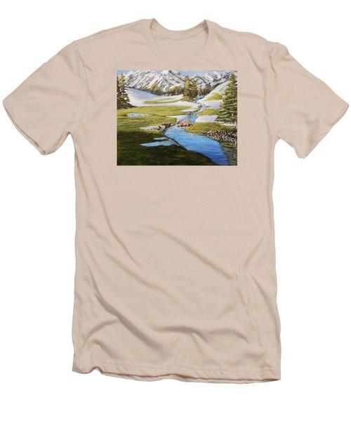 Bear Crossing Men's T-Shirt (Slim Fit) by Ruanna Sion Shadd a'Dann'l Yoder