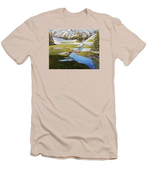 Spring In The Mountains Men's T-Shirt (Athletic Fit)