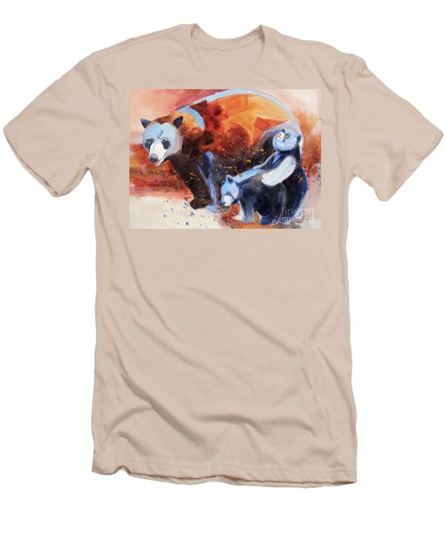 Bear Family Outing Men's T-Shirt (Slim Fit) by Kathy Braud