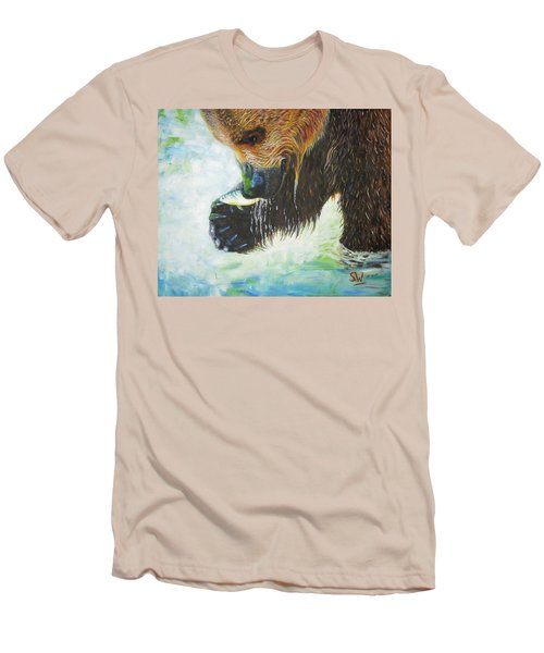 Bear Fishing Men's T-Shirt (Athletic Fit)