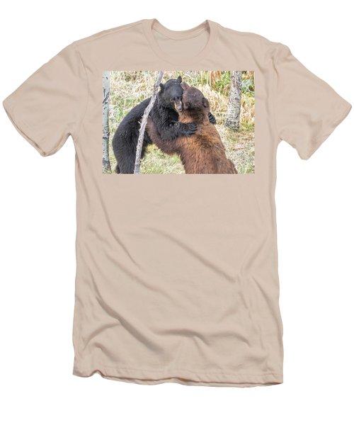 Bear Hug Men's T-Shirt (Slim Fit) by Marc Crumpler