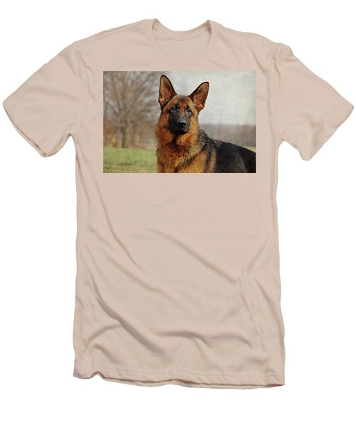 Men's T-Shirt (Slim Fit) featuring the photograph Beautiful Raven by Sandy Keeton