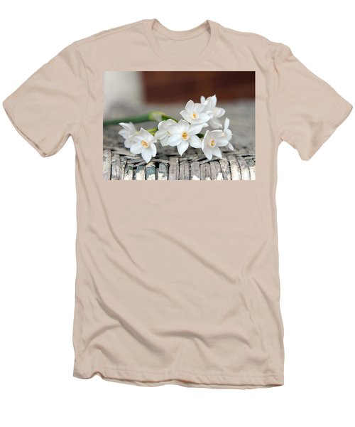 Beautiful Spring Paperwhites Men's T-Shirt (Slim Fit) by Carla Parris