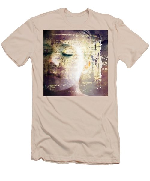 Men's T-Shirt (Slim Fit) featuring the digital art Behind The Words by Gun Legler