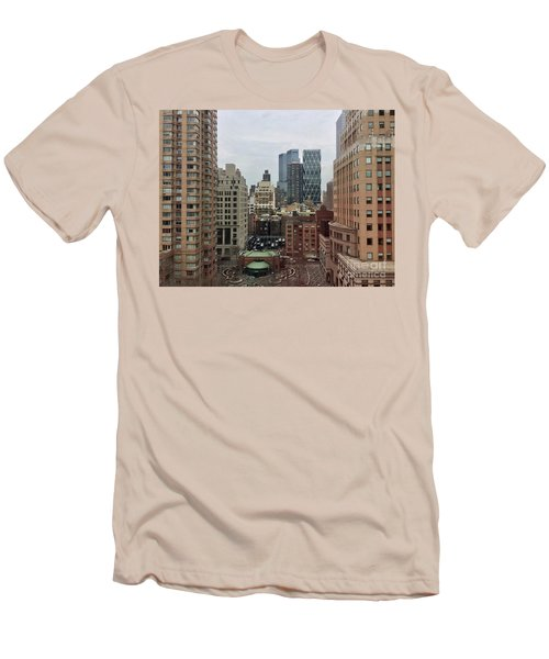 Belvedere Hotel New York City  Room With A View Men's T-Shirt (Athletic Fit)
